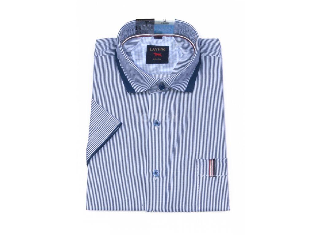 pánská košile krátký rukáv TSK55 3 slimfit (1)