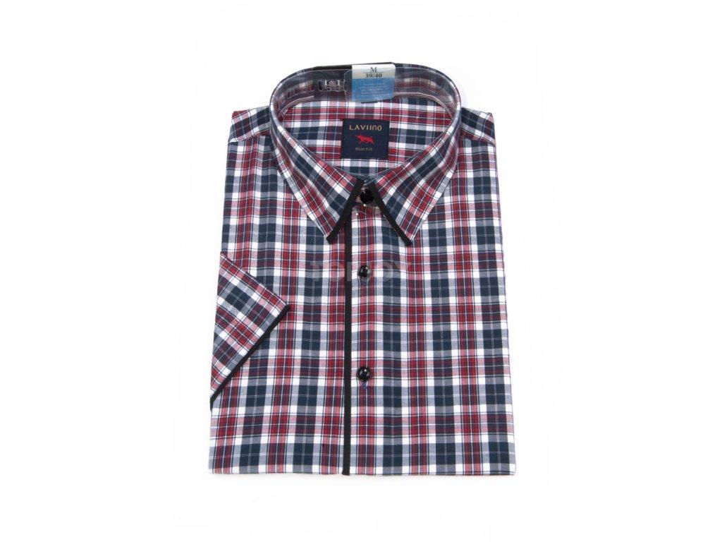pánská košile krátký rukáv TSK63 1 slimfit (1)