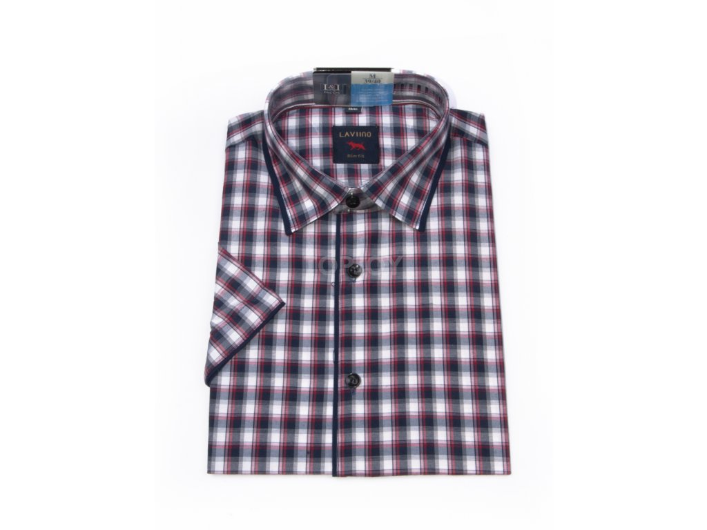 pánská košile krátký rukáv TSK64 1 slimfit (1)