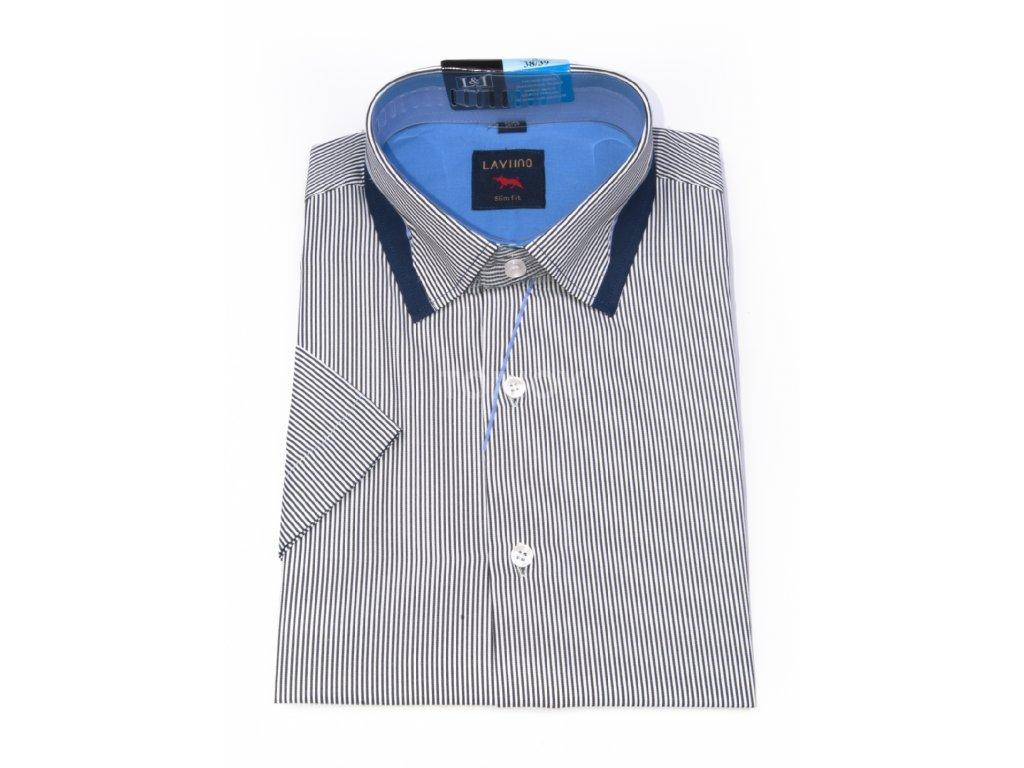 pánská košile krátký rukáv TSK76 2 slimfit (1)