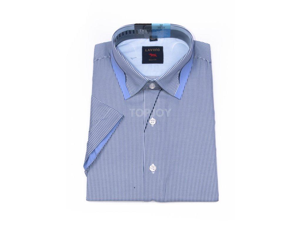 pánská košile krátký rukáv TSK76 4 slimfit (1)