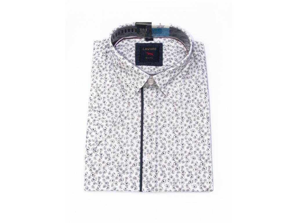 pánská košile krátký rukáv TSK106 4 slimfit (1)