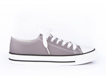 dámské plátěné tenisky tmavě šedé (1)