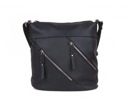 dámská černá taška kabelka přes rameno 5505 (2)