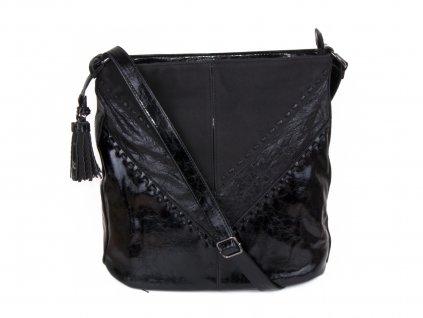 lakovaná dámská boho kabelka přes rameno 5126 (1)