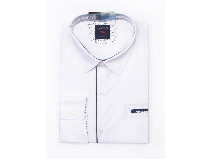 pánská bílá košile s dlouhým rukávem tsm 13b (1)