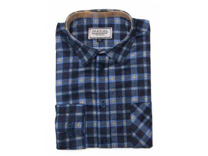 pánská košile kostkovaná flanelová F9 (1)