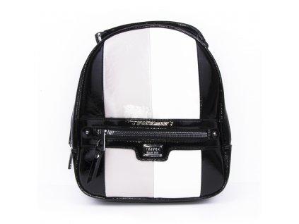 dámský lakovaný batoh s pruhy 4342 (1)
