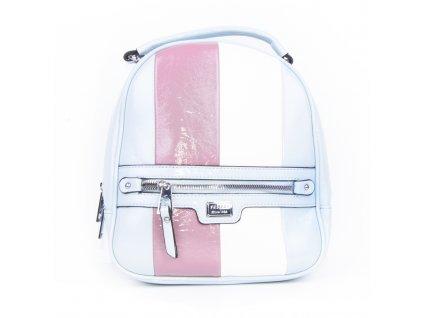 dámský lakovaný batoh s pruhy 4342 (5)