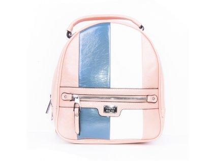 dámský lakovaný batoh s pruhy 4342 (9)