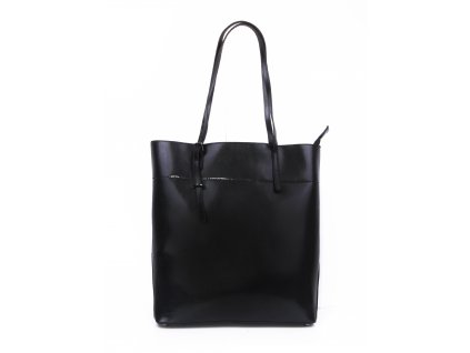 dámská lakovaná velká kabelka shopper 2564 (1)