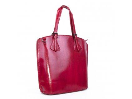 červená lakovaná kabelka 3959 (2)