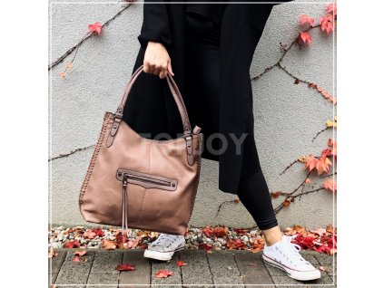 Dámská kabelka se cvočky 5112 růžová