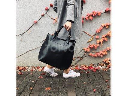 Dámská lakovaná kabelka do ruky 3135 černá
