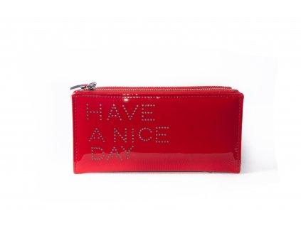 Dámská peněženka s nápisem FLO9345 červená