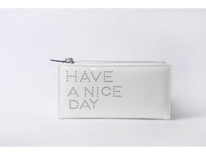 Dámská peněženka s nápisem FLO9345 bílá
