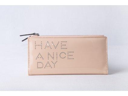 Dámská peněženka s nápisem FLO9345 růžová