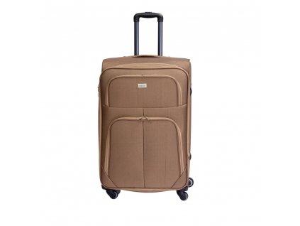 Cestovní kufr C-214 béžový L
