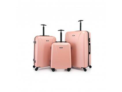 Skořepinový ABS kufr 120240 rose gold L