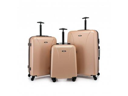 Skořepinový ABS kufr 120240 zlatý S