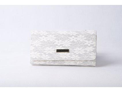 Dámská peněženka s krajkou xd152 bílá