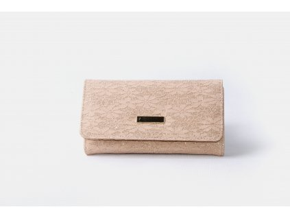 Dámská peněženka s krajkou xd152 meruňková