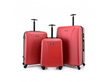 Skořepinový ABS kufr 120240 červený S