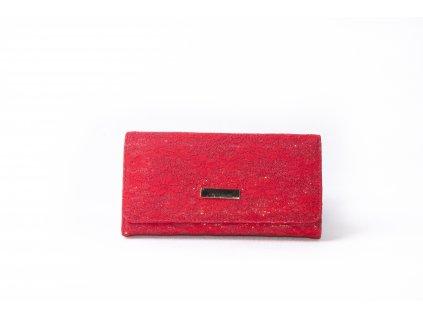 Dámská peněženka s krajkou xd152 červená