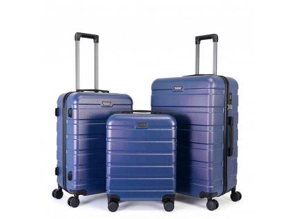 Skořepinový premium kufr s TSA zámkem 150140 modrý L