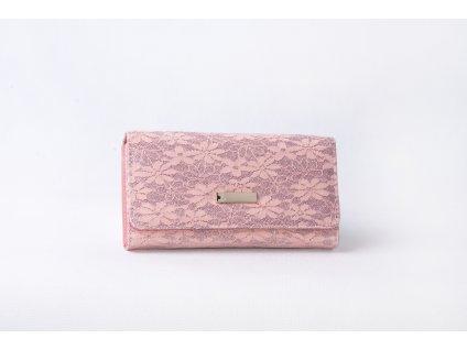 Dámská peněženka s krajkou xd152 růžová