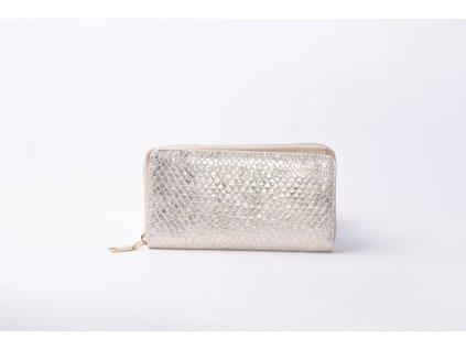 Dámská peněženka s hadím vzorem AMELIA light gold XD9818