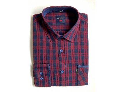 Pánská kostkovaná košile s dlouhým rukávem