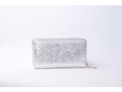 Dámská peněženka s hadím vzorem XD9818 stříbrná