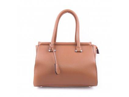 Originální dámská kabelka válcovitého tvaru 18330 hnědá