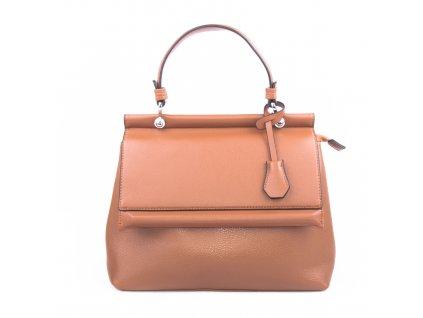 Luxusní dámská kabelka aktovka 18331 hnědá
