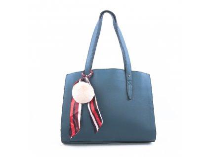 Basic velká kabelka s přívěškem bv18234 modrá
