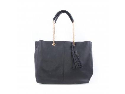 Nadčasová dámská kabelka s řetízkovým uchem bv18260 černá