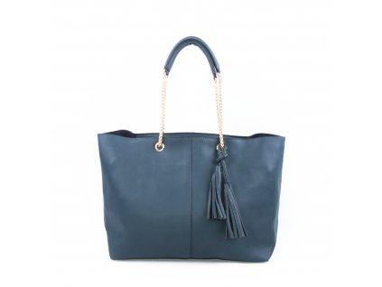 Nadčasová dámská kabelka s řetízkovým uchem bv18260 modrá