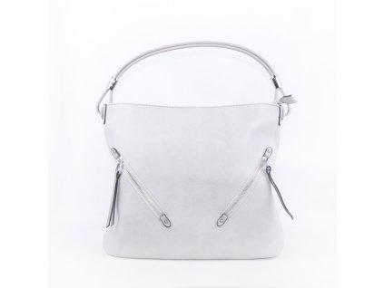 Velká dámská kabelka se stříbrnými detaily 4175 šedá