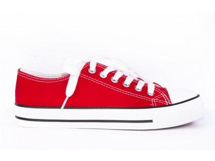 dámské plátěné tenisky červené (1)