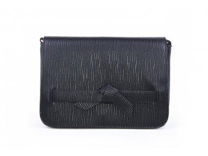 Elegantní psaníčko s mašličkou h2763 černé