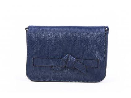 Elegantní psaníčko s mašličkou h2763 tmavě modré