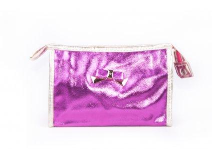 dámská kosmetická taška lesk 11532 6 62 2 tmavě růžová (1)