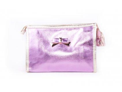 dámská kosmetická taška lesk 11532 6 62 3 světle růžová (1)