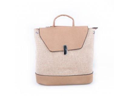 dámský textilní batoh módní 18026 2 béžový (1)