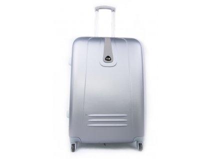 Cestovní kufr plastový stříbrný 188 S