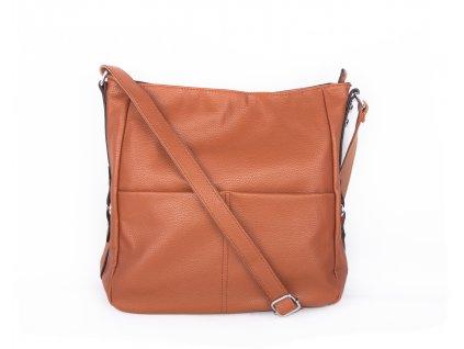 velká kabelka přes rameno hnědá (4)
