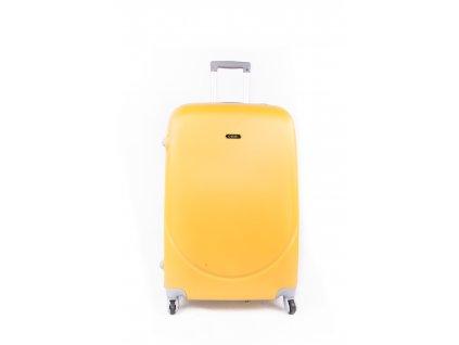 cestovní kufr plastový skořepinový žlutý (1)