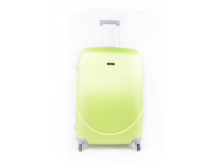 cestovní kufr plastový skořepinový zelený (1)