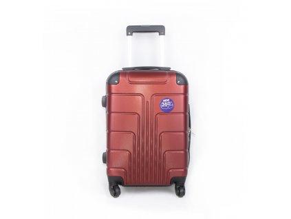 palubní kufr skořepinový červený (2)